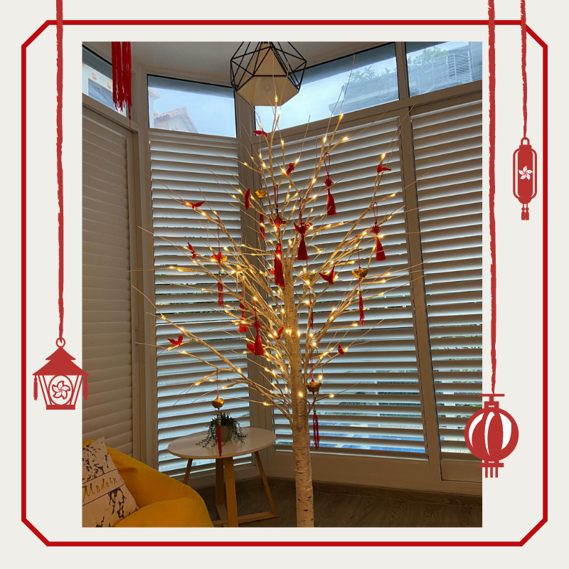 [CNY PROMO] CNY LED Birch Twig Trees Indoor Outdoor Use / Warm White LED Light Birch Twig Tree
