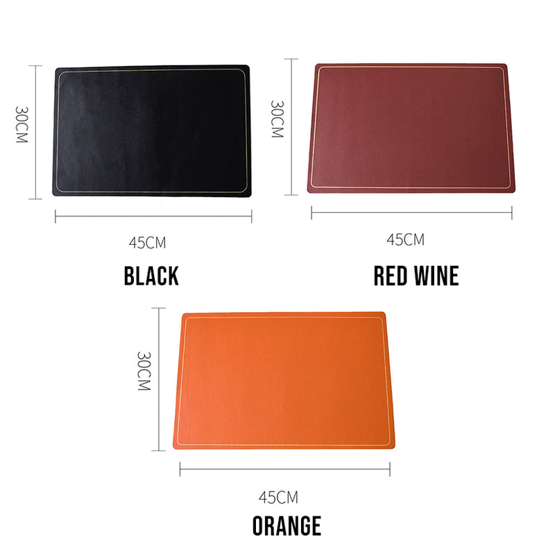 Jane Collection PU Leather Waterproof Placemat