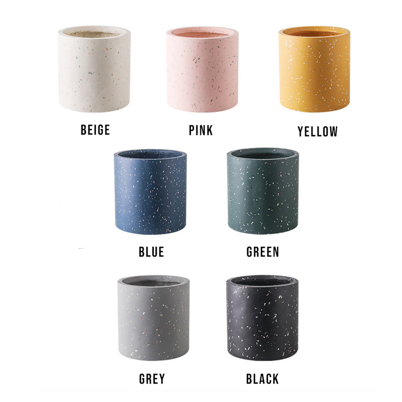 11cm / 14cm / 17cm Terrazzo Colorful Flower Pot+Base Tray
