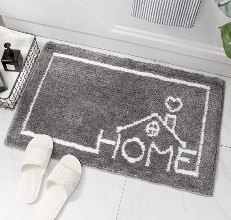 Modern striped Absorbent Anti-slip Bathroom Mat