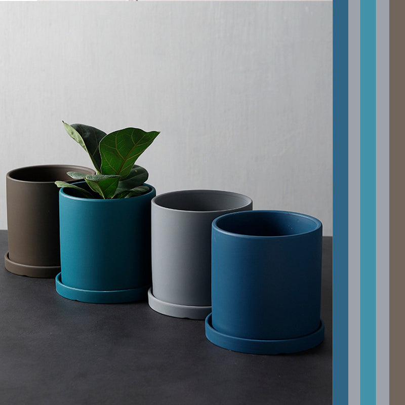 Nordic Style Ceramic Colourful Modern Flower Pots / Pastel Colour Flower Pots / Bright colour Flower Pots for Home or Office