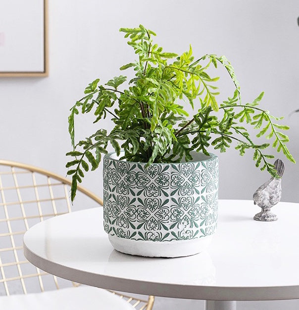 Green Series Ceramic Flower / Plant Pots - Speckled Space
