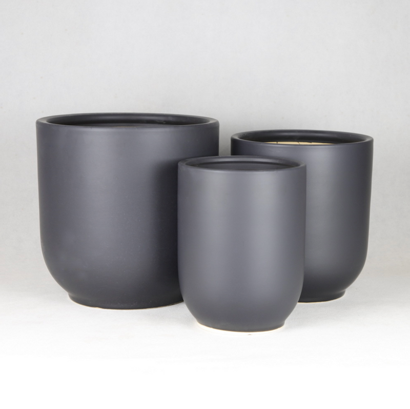Modern White/Black Ceramic Flower / Plant Pot / 3 sizes Ceramic Pot / Home Outdoor Garden Flower Pot