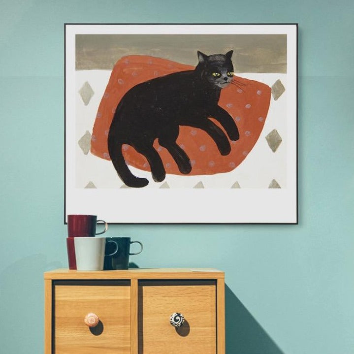 Catsy Wall Art with Frame
