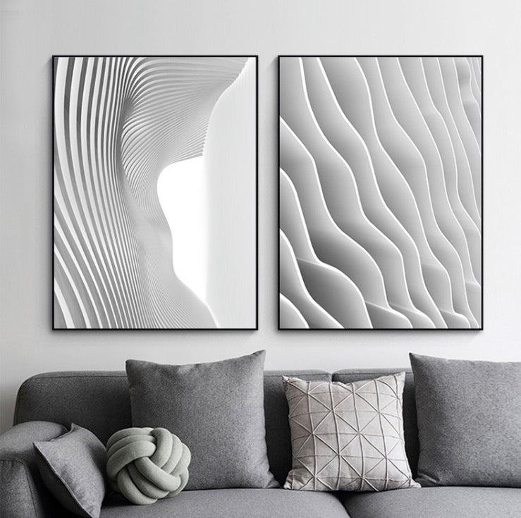 The Wave Wall Art with Frame