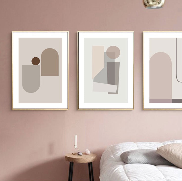 Blush Wall Art with Frame