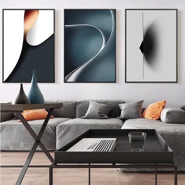 Abstract Flow Canvas Wall Art Print - Speckled Space