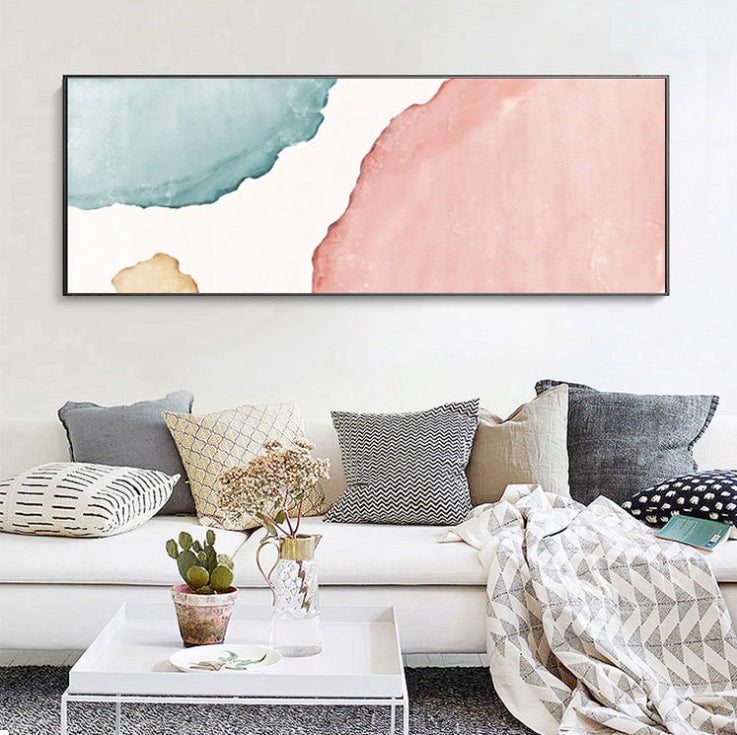 Jealean Pastel Long Wall Art Poster with Frame - Speckled Space