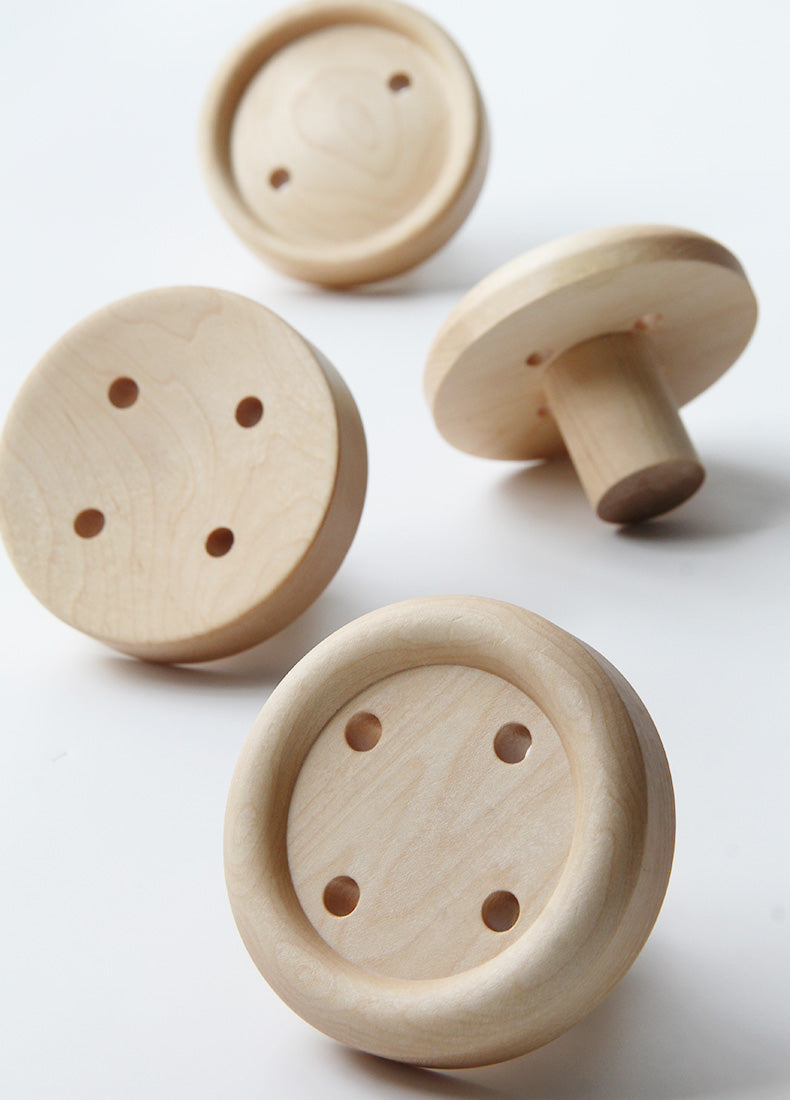 Nordic Designer Button - Design Wall Hanger / Wall Knobs / Wall Hooks (4 Pcs) - Speckled Space