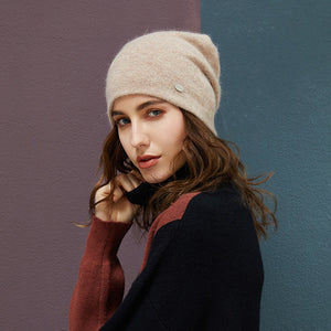 Female Beanies Rabbit Hair Casual Autumn Knitted