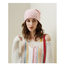 Load image into Gallery viewer, Female Beanies Rabbit Hair Casual Autumn Knitted