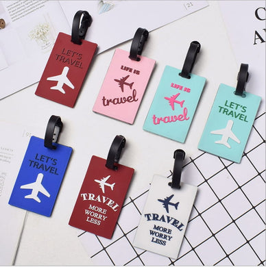 Fashion Aircraft Letter Silica Gel Luggage