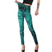 Load image into Gallery viewer, Jean Leggings Slim Elastic Seamless Pants Plus Sizes