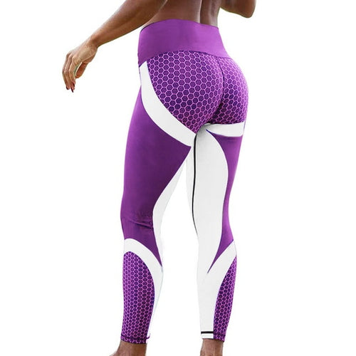 New Honey Fitness Sport leggings Mesh Print High Waist