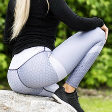 Load image into Gallery viewer, New Honey Fitness Sport leggings Mesh Print High Waist