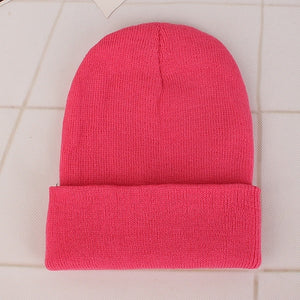 New Beanies Knitted Solid Cute Hat Girls