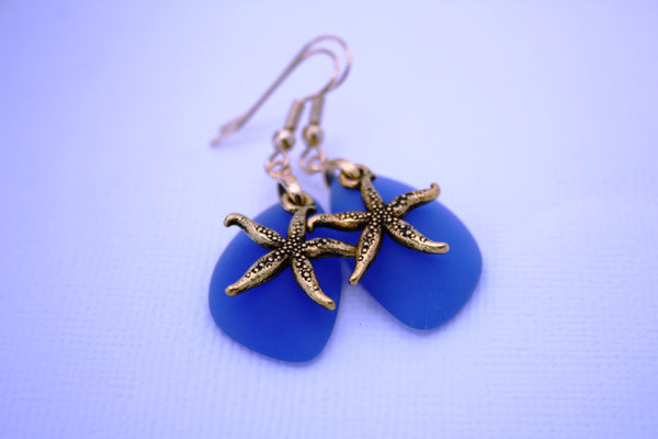 Poulila Earrings • Cobalt Blue