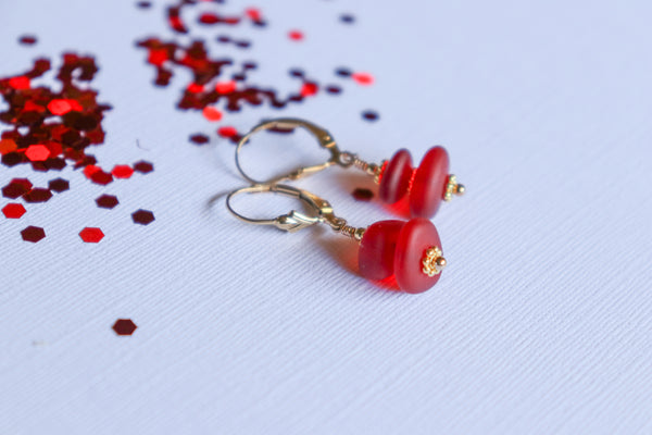 Ko'iele Earrings • Red