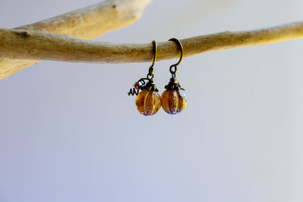Pumpkin Melon Earrings