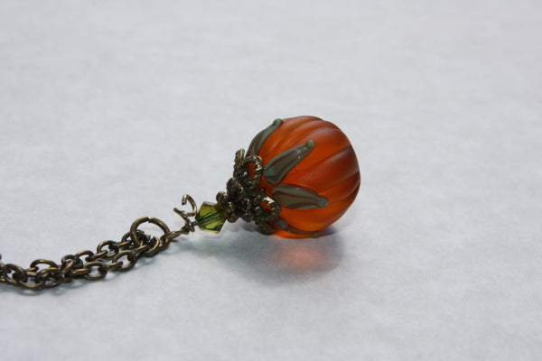 Lampwork Pumpkin Necklace