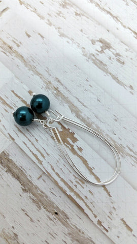 Meahula Momi Earrings • Teal Pearl