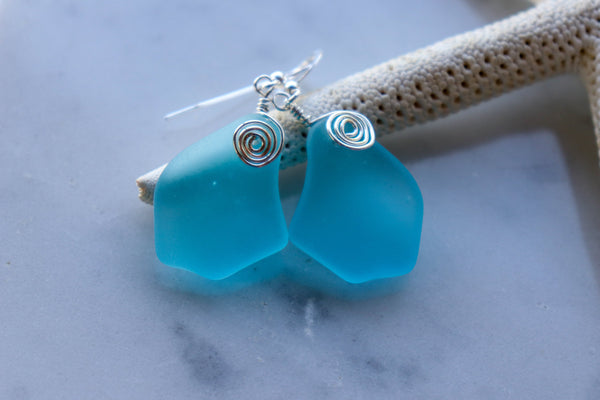 Alohi Earrings • Aqua