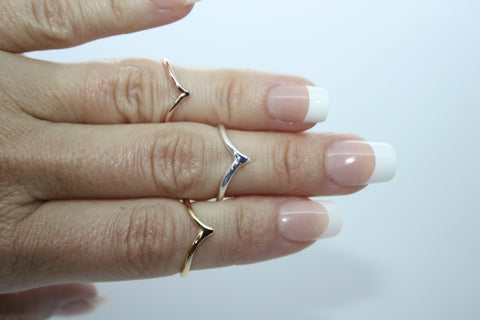 Chevron Minimalist Ring