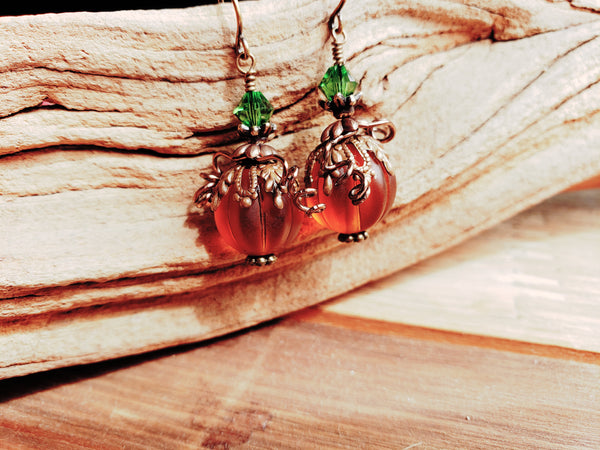 Autumn Pumpkin Earrings