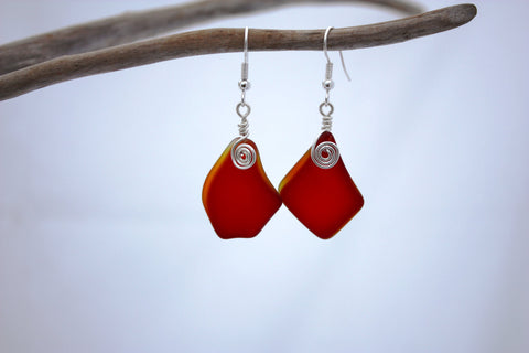 Alohi Earrings • Candy Apple Red