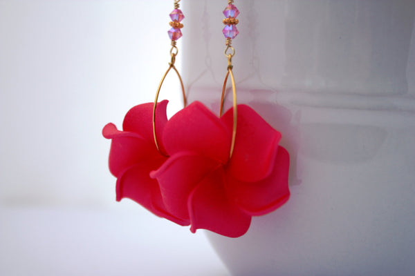 Keilani Earrings • Hot Pink
