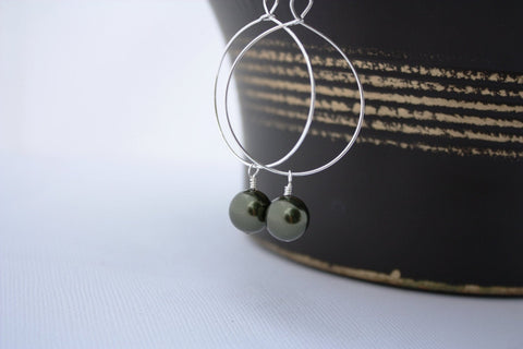 Momi Earrings • Dark Green