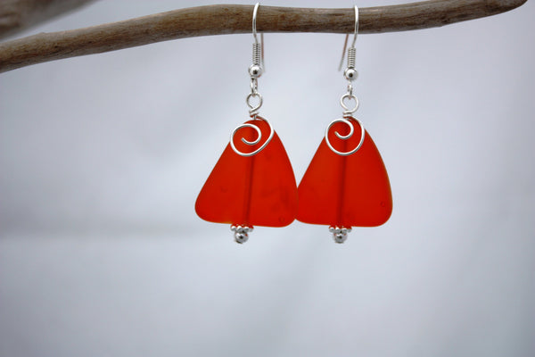 Ihilani Earrings • Ember Orange