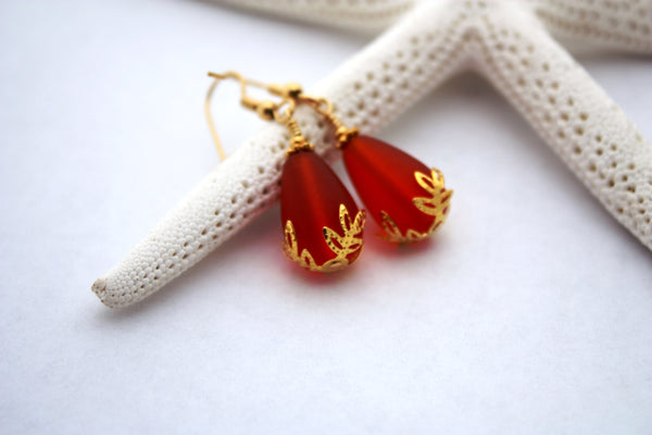 Kulu Wai Earrings • Ember Orange
