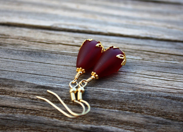 Kulu Wai Earrings • Fire Red