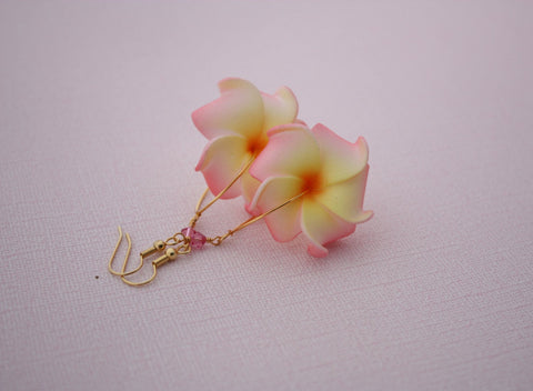Pua Nani Earrings • Pastel Peach