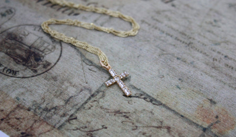 Religious Confirmation Cross Necklace