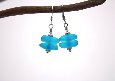 Pihi Earrings • Aqua Blue