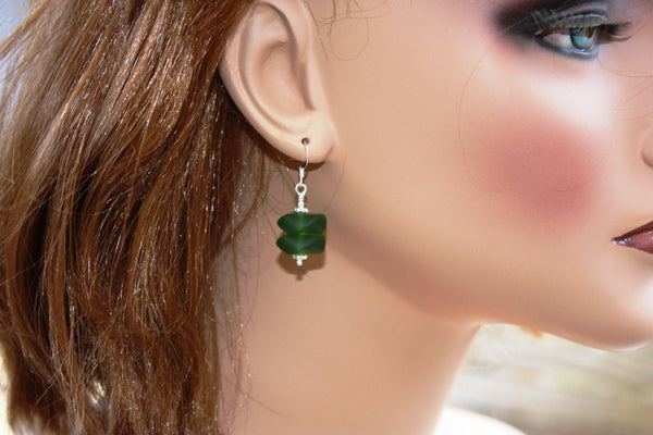 Pihi Earrings • Kelp Green