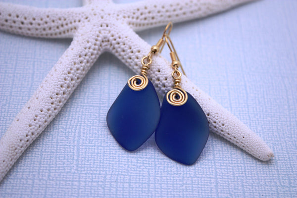 Alohi Earrings • Cobalt Blue