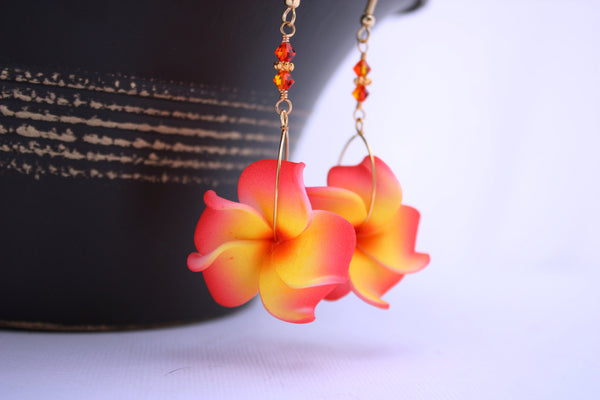 Keilani Earrings • Golden Orange