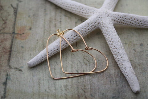 Small Wire Heart Earrings
