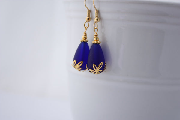 Kulu Wai Earrings • Cobalt Blue