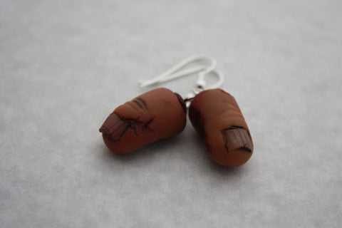Severed Finger Gross Halloween Earrings