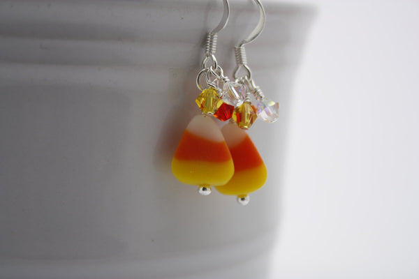 Candy Corn Dangle Earrings