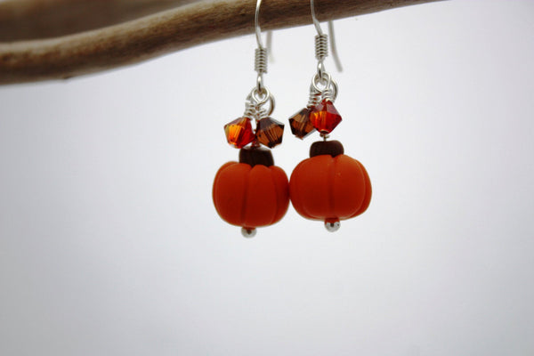 Pumpkin Dangle Earrings