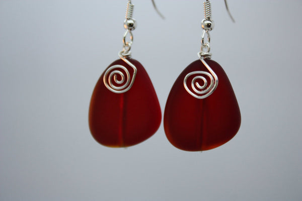 Waikiki Earrings • Candy Apple Red
