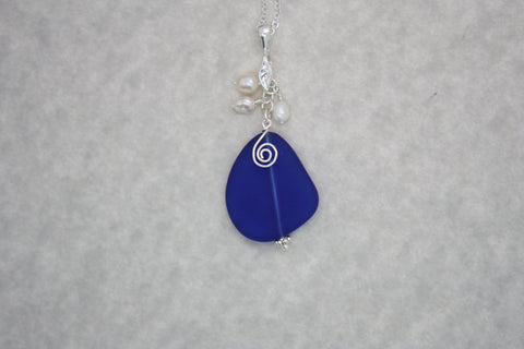 Mekealoha Necklace • Cobalt Blue