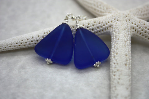 Ehu Kai Earrings • Cobalt Blue