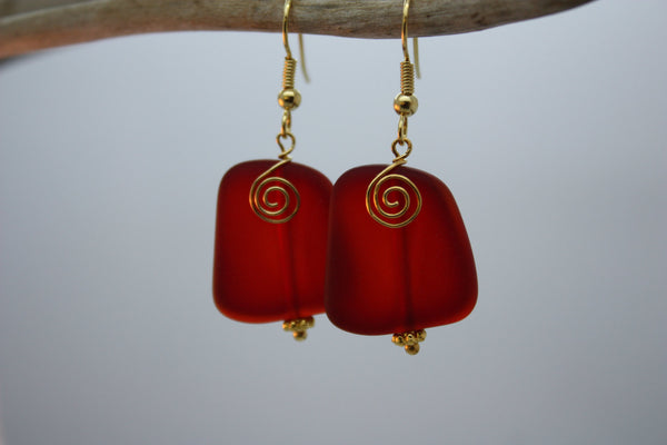 Ihilani Earrings • Fire Red
