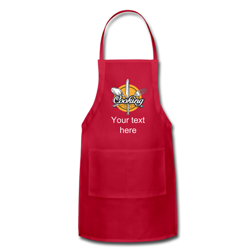 Customize it! - Adjustable Apron - red
